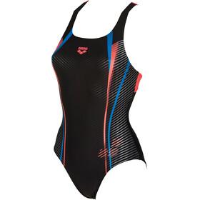 arena Roy Swim Pro Back Traje de baño de una pieza Mujer, black-shiny pink